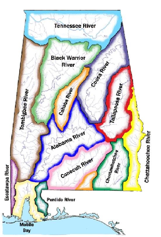 Alabama Rivers Map